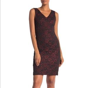 Donna Ricco stretch brocade dress